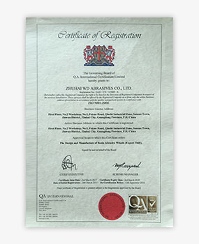 - Sertifikat ISO 9001